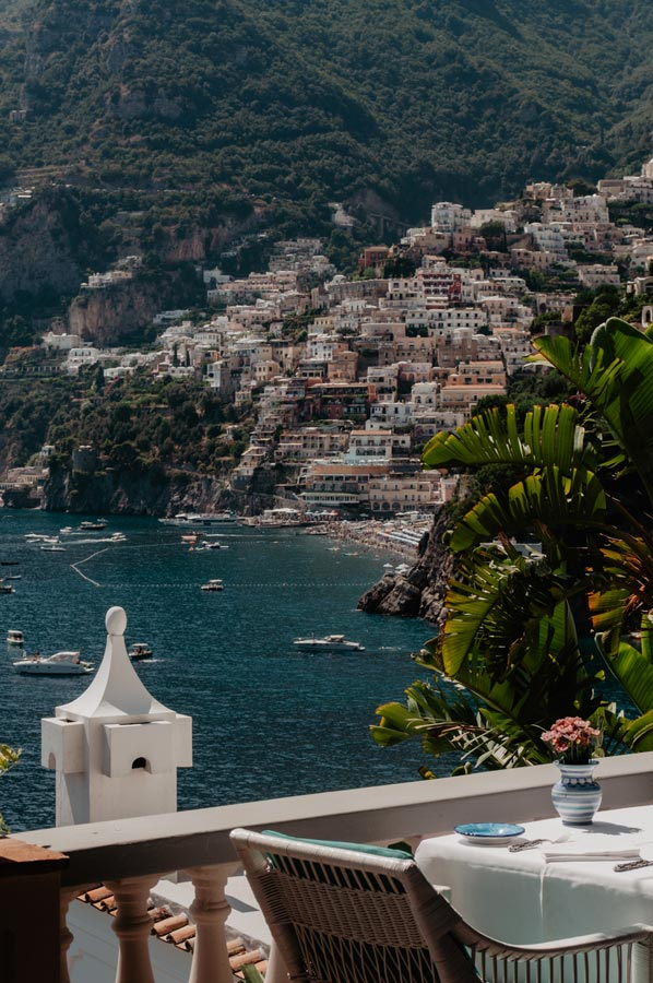 Positano's landscape from Hotel Tre Ville