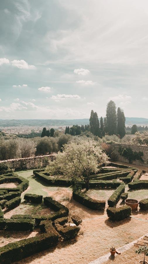 Villa Maiano's garden.