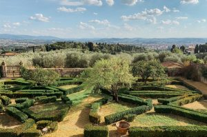 Villa Maiano, garden and landscape, Tuscany