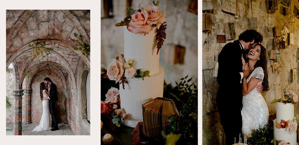 Matrimonio torta e fiori villa di Maiano - Firenze